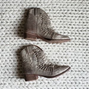 Matisse Foe Studded Booties in Old Gold
